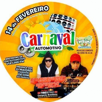 Carnaval Automotivo em Santa Tereza do Itaipu-PR.