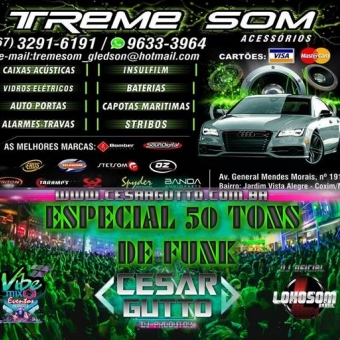 ESPECIAL 50 TONS DE FUNK - TREME SOM COXIM-MS